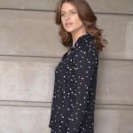St Tropez Shirt black with white stars