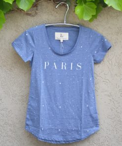 T'shirt chambray paris stars