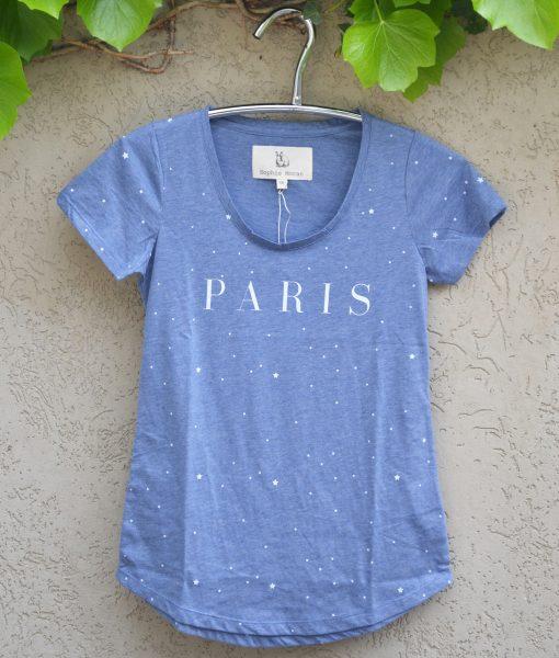 T'shirt chambray paris stars