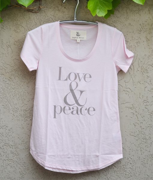 T'shirt pink love and peace