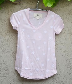 T'shirt pink with white stars