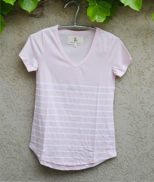 T'shirt pink with white stripe