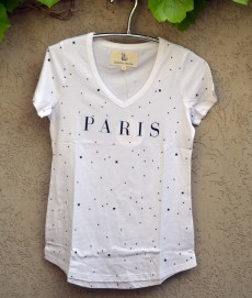T'shirt white paris stars
