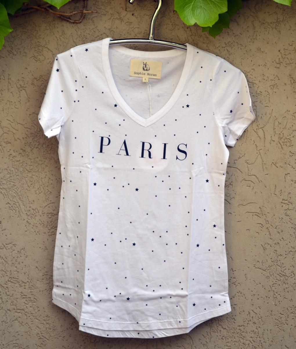 T'shirt white paris stars