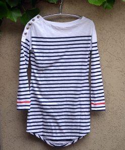 Nautical dress navy and white