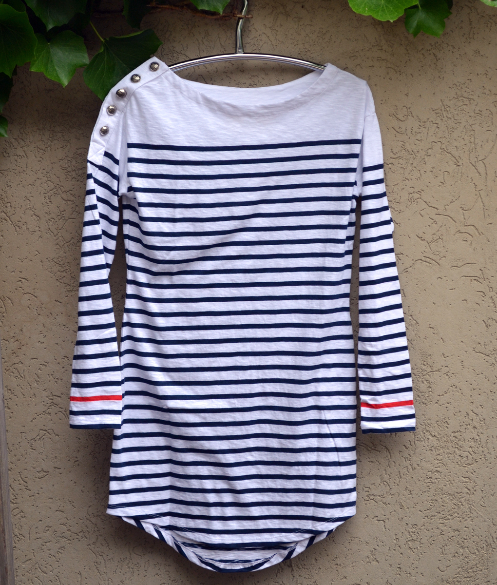 Nautical dress navy and white