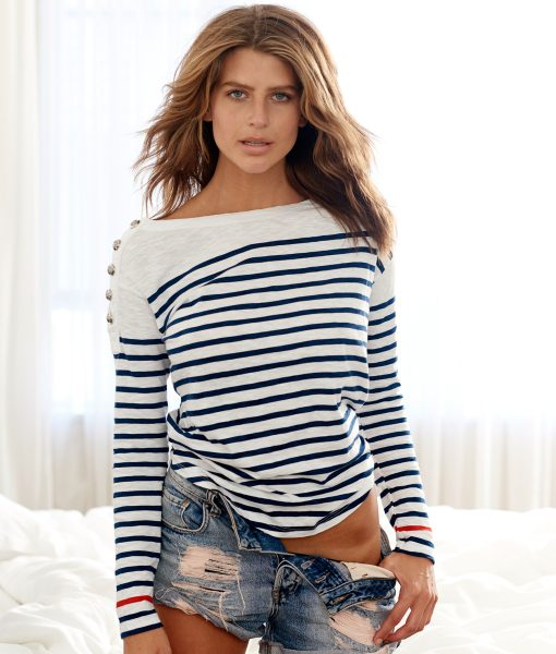 Nautical top navy and white