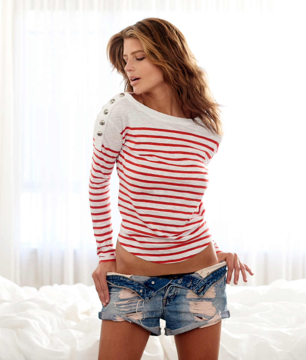 Nautical top red and white