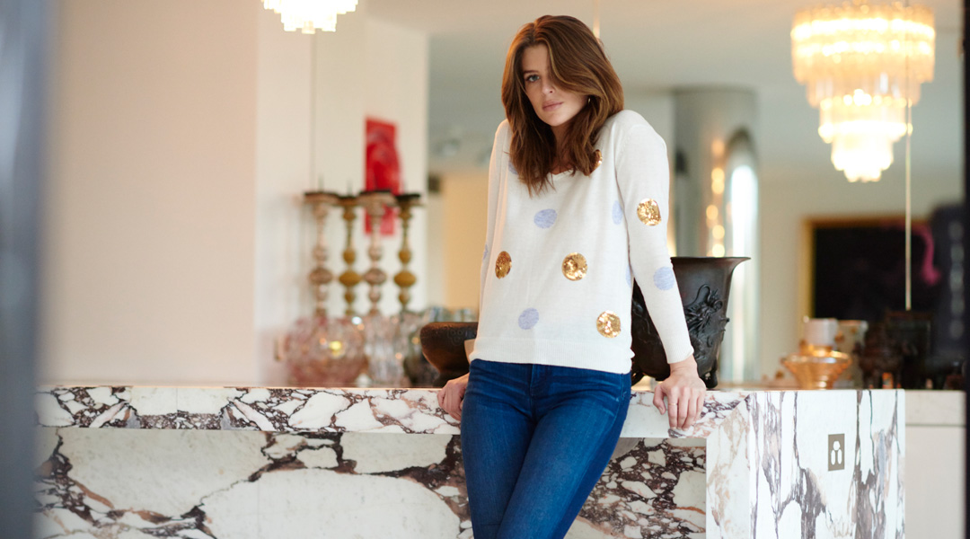 Cream Spot Sweater