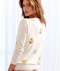 Silk Cashmere Spot Sweater