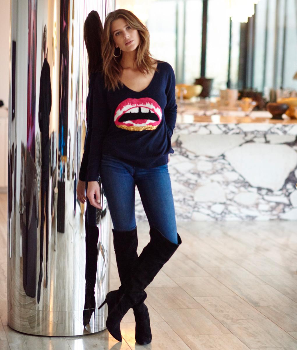 Merino Lips Sweater