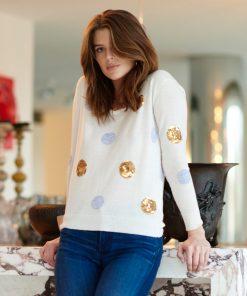 Cream Spot Sweater