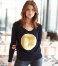 Gold Sequin Spot Sweater