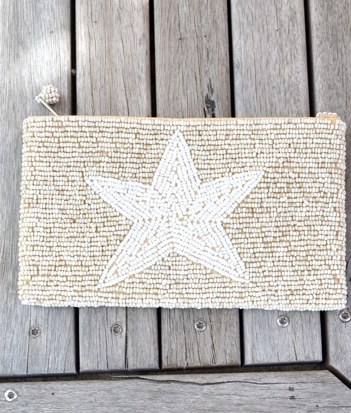 Purse Natural with White STAR