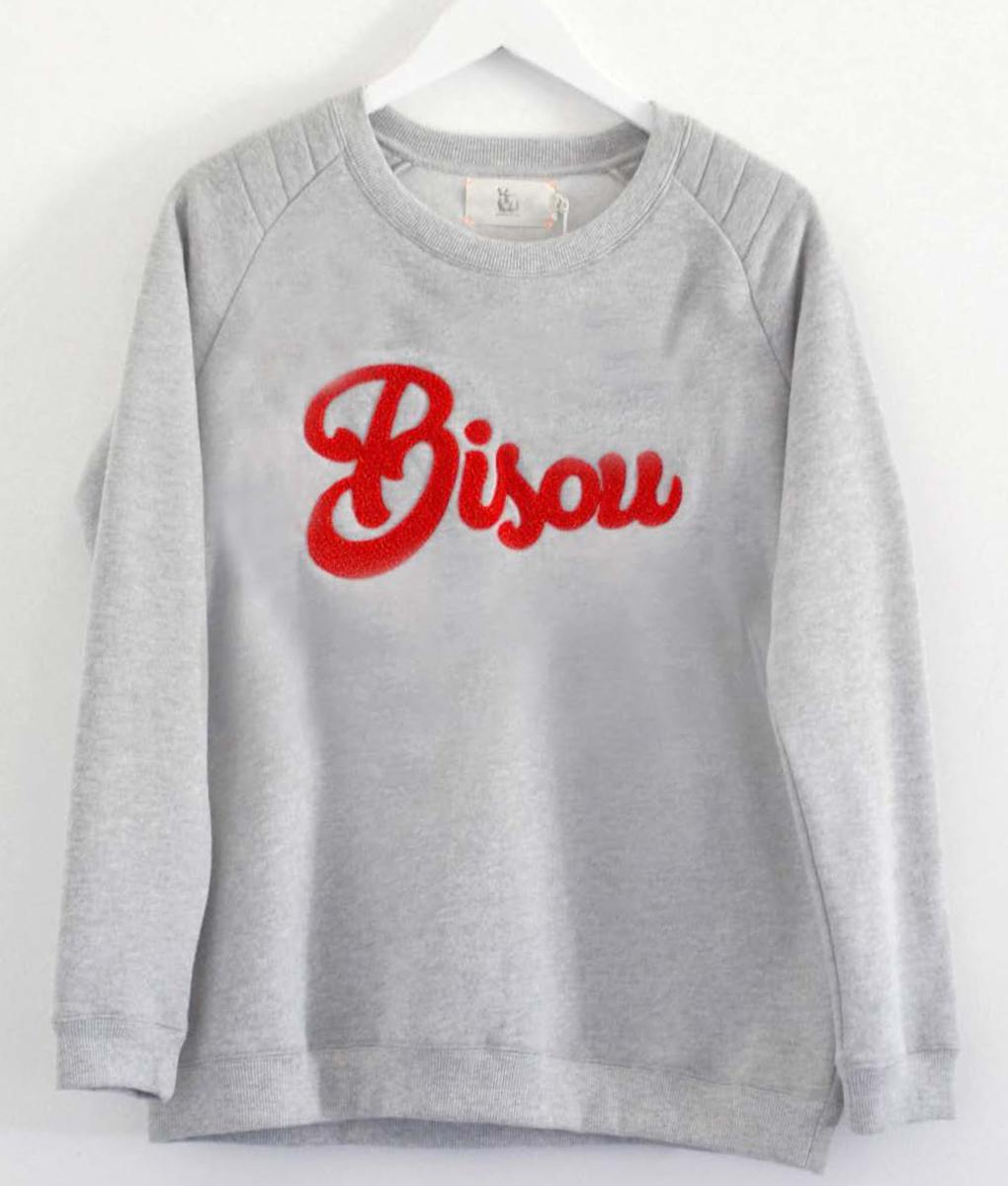 Bisou: Sweatshirt Grey
