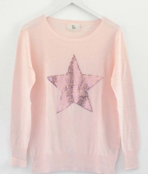 Pink-with-Dusky-Pink-Star-Sweater-Sophie-Moran-1020×1200