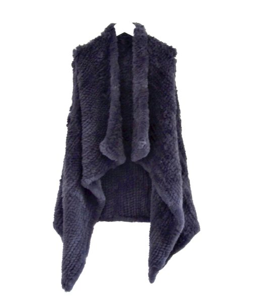 Long Waterfall Fur Vest