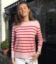 Breton pink stripe sweater