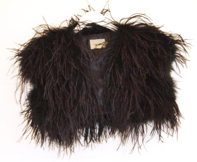 ostrich balero black
