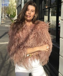 ostrich feather balero