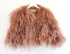 ostrich jacket dusty pink