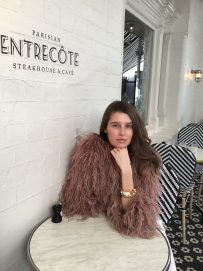 Ostrich feather jacket dust pink