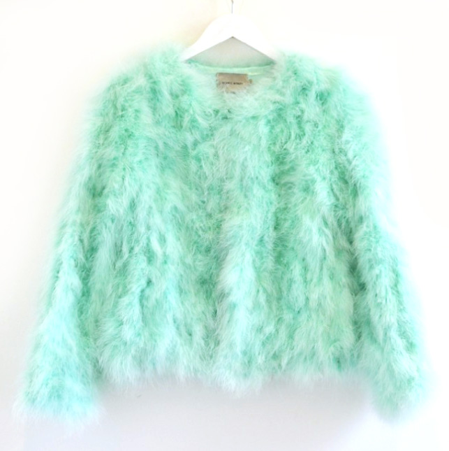 Turkey Feather Jacket Minty Green