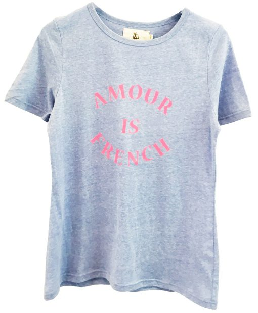 Amour Cotton tee Powder blue