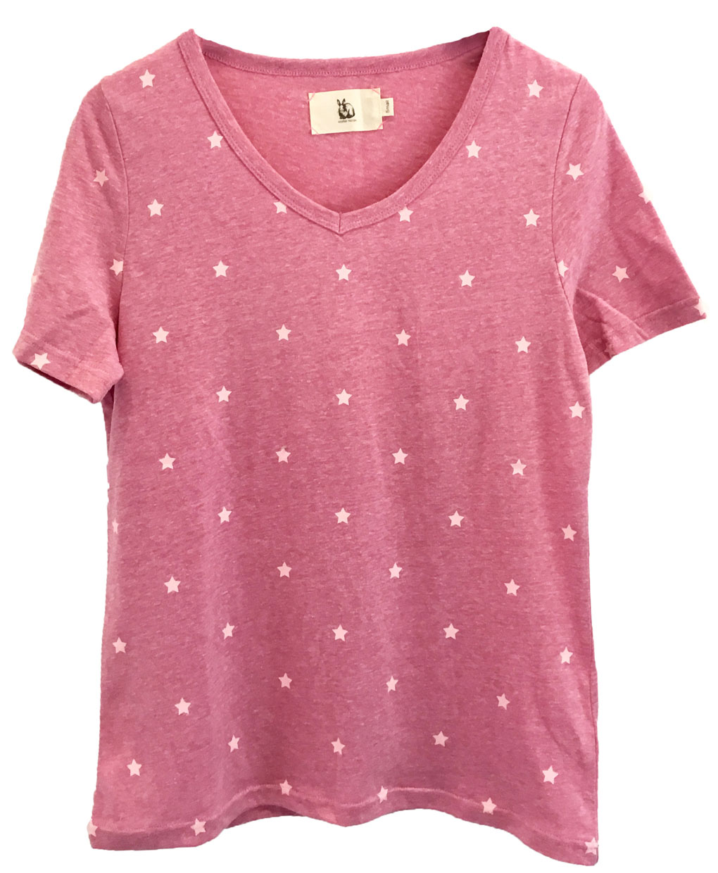 Mini start cotton t shirt plum