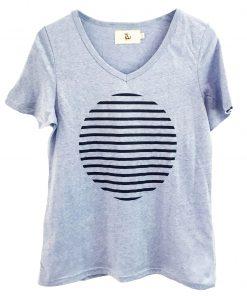 Stripe spot cotton tshirt