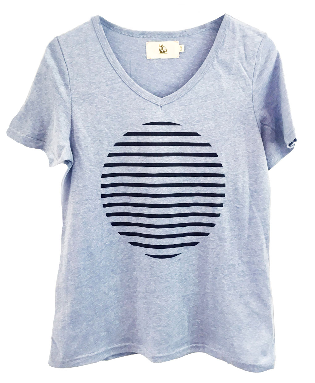 Stripe spot cotton tshirt