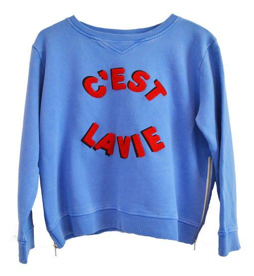 Zip Sweater blue Cest La Vie