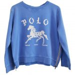 Zip Sweatshirt Blue Polo