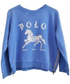 Zip Sweatshirt Blue Polo
