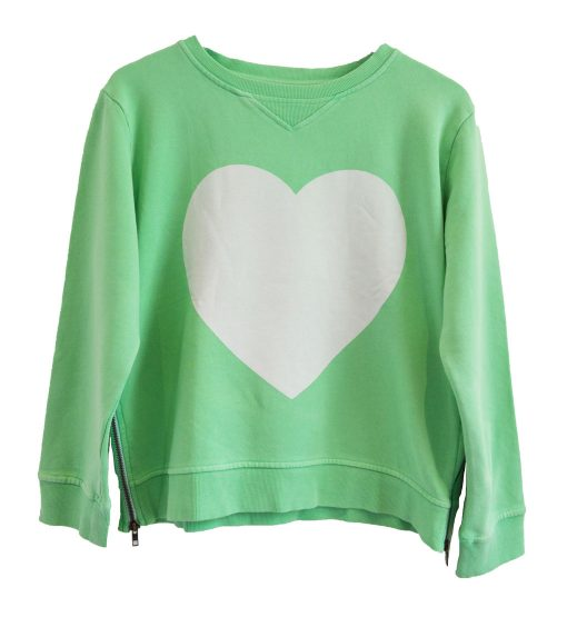 Zip Sweater green heart
