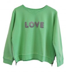 Zip Sweater green love