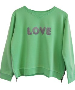 Zip Sweater green love
