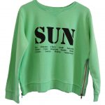 Zip sweater green sun