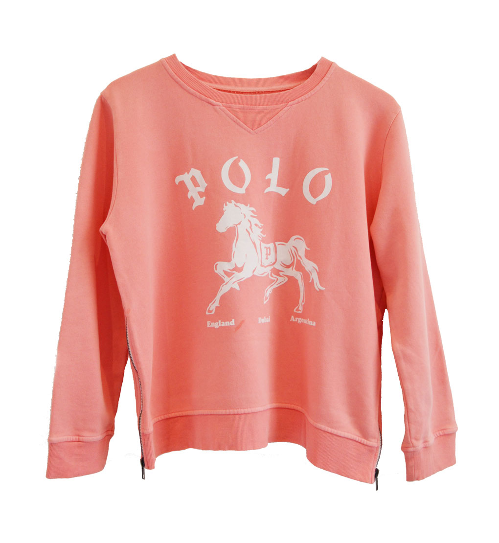 Zip Sweater peach polo