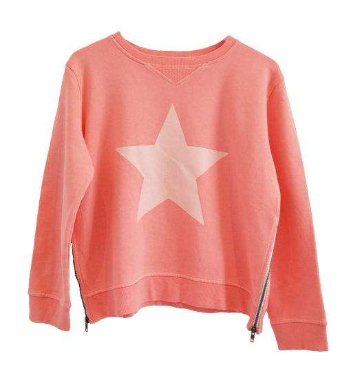 Zip sweater peach star