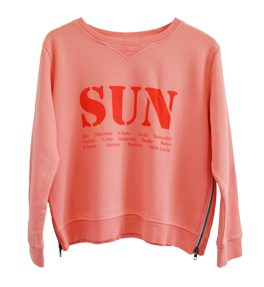 Zip Sweater peach sun