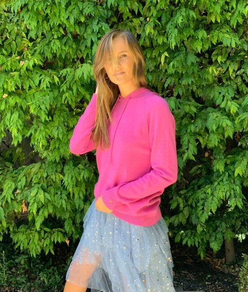 fuchsia hoodie