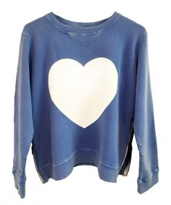 Zip Heart Sweatshirt