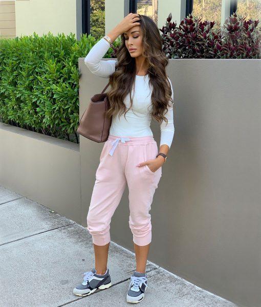 pink trackpants