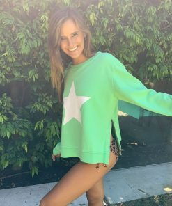 zip star green sweater