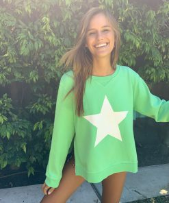 zip star sweater green