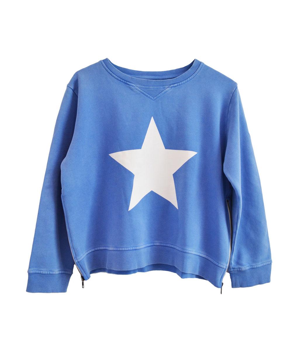 zip sweater star blue