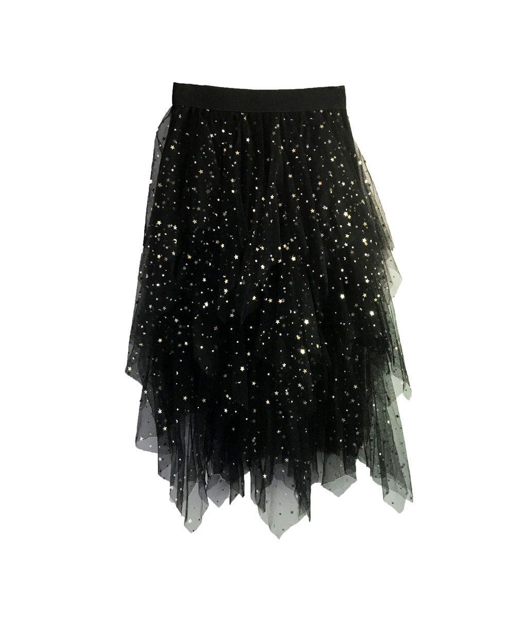 Star Star Skirt Black