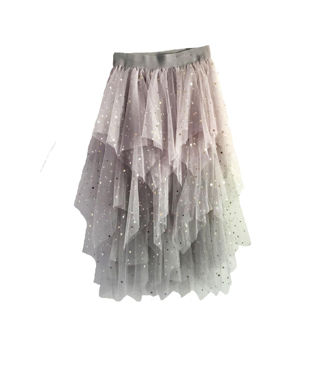Star Star Skirt Light Grey