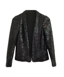 Sequin Jacket Black